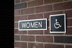 Women's Restroom Sign Royalty Free Stock Photo