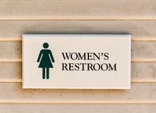 Women's restroom sign Stock Photos