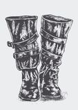 Women's riding boots Royalty Free Stock Images