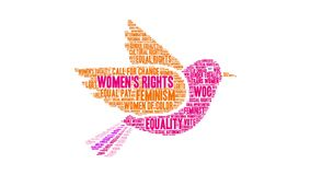Women`s Rights word cloud stock illustration