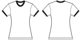 Women's Ringer T-Shirt Design Template Stock Images