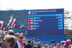 Women's rowing in Rio2016 Olympics Stock Image