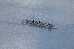 Women's Rowing Team. In a race Royalty Free Stock Photo