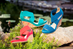 Women's sandals. Are unturned sale Royalty Free Stock Images