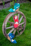 Women's sandals are on the wheel. Italian shoes Stock Image