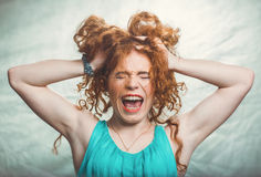 Women`s scandals and whims Stock Image