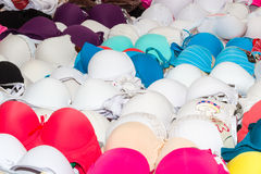 Women's sensual underwear on a market stand Stock Images