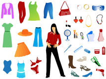 Women's set. Illustration of women's set, colors Royalty Free Stock Image