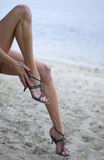 Women's glamour legs Royalty Free Stock Image