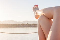 Women`s sexy legs Royalty Free Stock Photography