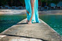 Women`s legs on the beach. Phu quoc Royalty Free Stock Photos