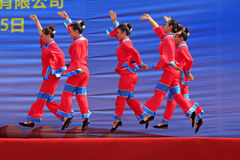 Women's Shadow dance performances on the stage, china Royalty Free Stock Photography