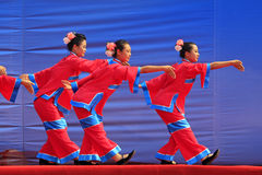 Women's Shadow dance performances on the stage, china Stock Photography