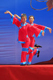 Women's Shadow dance performances on the stage, china Stock Photos