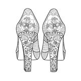 Women`s shoe with a beautiful pattern. Royalty Free Stock Image