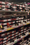 Women's shoe store shelves with shoes Stock Photo