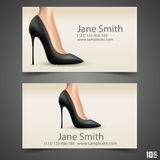 Women's shoe vector business card Stock Photography