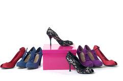Women's shoes Stock Images