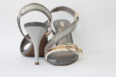 Women's shoes. This photograph shows a seasonal fashion women's shoes Stock Photos