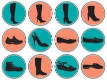 Women's shoes. The figure shows the shoes Stock Photography