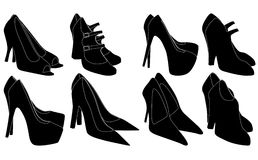 Women's shoes. Vector illustration of women's shoes Royalty Free Stock Images
