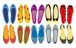 Women's shoes. Vector illustration of women's shoes Stock Photography