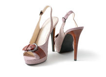 Women's Shoes. With high heels Royalty Free Stock Photos