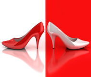 Women's shoes 3d concept Royalty Free Stock Photos