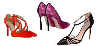 Women's shoes collection Stock Image