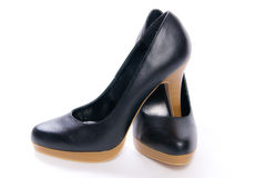 Women's shoes on high heels  Royalty Free Stock Photography