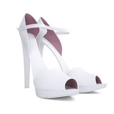 Women's shoes. Isolated render on a white background Stock Photography