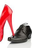 Women's shoes and men's shoes Stock Photo