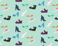 Women's shoes pattern Stock Photo