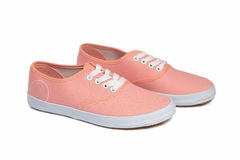 Women's shoes, pink shoes. On a white background Stock Photo
