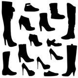 Women`s shoes set black Stock Image