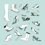 Women`s shoes set Royalty Free Stock Photo