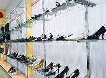 Women's shoes in a store Stock Photography