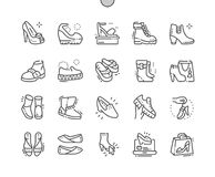 Women`s shoes Well-crafted Pixel Perfect Vector Thin Line Icons 30 2x Grid for Web Graphics and Apps. Simple Minimal Pictogram Stock Photo