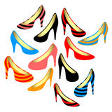 Women's shoes on a white background. Royalty Free Stock Photo