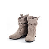 Women's shoes. On a white background Royalty Free Stock Photo