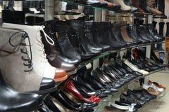 Women's shop shoes Stock Photos