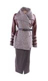 Women's short coat and long skirt. Stock Photo