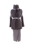 Women's short coat and long skirt. Stock Photos