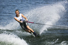 Women's Shortboard Action - Clementine Lucine. Image of the current world record holder Clementine Lucine of France competing in the Women's Shortboard (Tricks) Stock Image