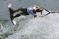 Women's Shortboard Action - Clementine Lucine. Image of the current world record holder Clementine Lucine of France competing in the Women's Shortboard (Tricks) Stock Images