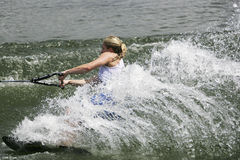 Women's Shortboard Action - Mandy Nightingale Stock Image
