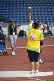 Women's Shot Putt for Disabled Persons Stock Image