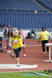 Women's Shot Putt for Disabled Persons Royalty Free Stock Images