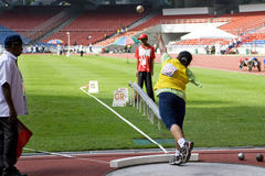 Women's Shot Putt for Disabled Persons Royalty Free Stock Image