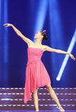 Women's single dance Stock Images